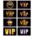 VIP Members Card Set vector image vector image