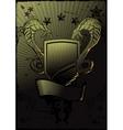 Snakes Shield Emblem vector image