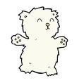 comic cartoon teddy bear vector image