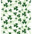 seamless flower shamrock vector image vector image