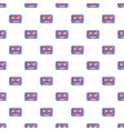 cassete tape pattern seamless vector image