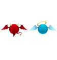 Devil and angel vector image