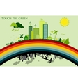 Greening cities concept of ecology vector image