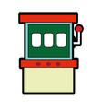 slot machine design vector image