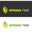 Spring time on a black backgorund vector image