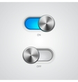 Toggle Switch On and Off position vector image