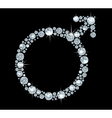 Diamond symbol Mars vector image vector image