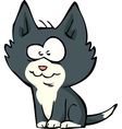 funny little kitten vector image