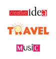 creative idea travel music vector image
