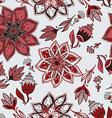 romantic doodle floral pattern vector image