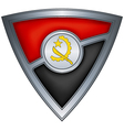 steel shield with flag angola vector image