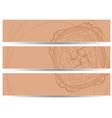 set of horizontal banners hand drawing EPS10 vector image