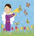 angel with butterflies vector image