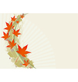 Background with leafs vector image