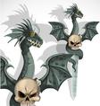 Dragon Skull Daggers vector image