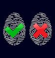 finger-print scanning identification system vector image