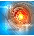 Futuristic space background vector image