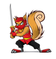Ninja Squirrel vector image