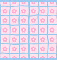 seamless flower print ongoing pattern of vector image