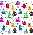 Seamless pattern with funny jelly characters vector image