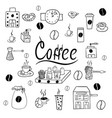set of coffee accessories doodle vector image
