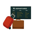 travel airplane world trip flight icon of vector image