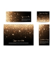 Set of banners of different sizes black background vector image