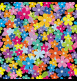 multicolored floral background vector image vector image
