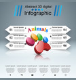 animals infographic and business icon vector image