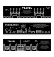 travel and recreation flat banners template with vector image