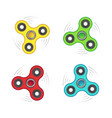 colorful fidget spinners vector image vector image