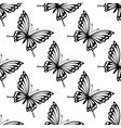 Seamless pattern of flying butterflies vector image