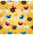 newborn faces pattern vector image