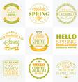 Set of Spring Vintage Typographic Badges Hello vector image