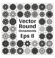 Round ornaments collection vector image