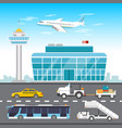 airport infographic elements vector image