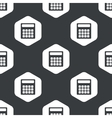 Black hexagon calculator pattern vector image