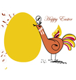 easter chicken in folk paintings vector image