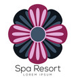 isolated spa logo vector image