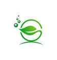 leaf bio organic nature logo vector image