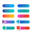 modern read more color buttons isolated vector image