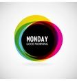 Monday vector image
