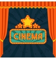 Movie and cinema retro background vector image