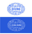 scuba diving snorkeling banner vector image