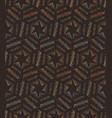 seamless stars lined geometric pattern vector image