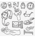 Sleeping time - doodles set vector image