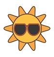 sun funny glasses funny icon vector image