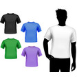 T-shirts male set vector image