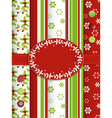 Christmas scrap book background with ribbon and bo vector image vector image
