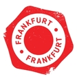 Frankfurt stamp rubber grunge vector image